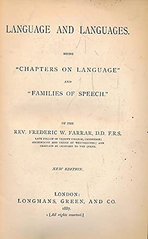 Language and Languages: Farrer, Frederick W