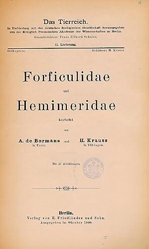 Oligochaeta. Volume 11 in Das Tierreich Series: Bormans, A de; Krauss, H