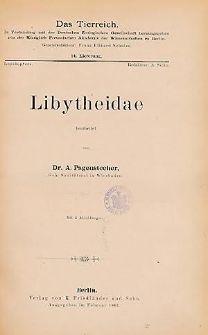 Libytheidae. Volume 14 in Das Tierreich Series: Pagenstecher, A