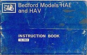 Bedford Models HAE and HAV. Operation & Maintenance Instructions: Vauxhall