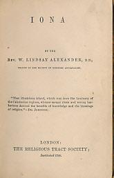 Iona: Alexander, William Lindsay