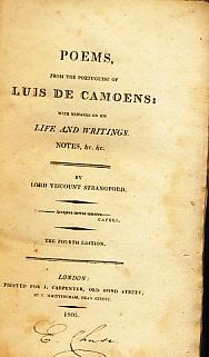 Poems, from the Portuguese of Luis de Camoens. With remarks on his life and writings. Notes, &c...