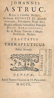Tractatus Therapeuticus: Astruc, Johannis