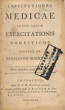 Institutiones Medicae in Usus Annuae Exercitationis Domesticos: Boerhaave, Hermanno