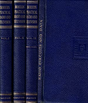 Modern Practical Radio and Television. Four volume set, including supplementary 4th volume, Radio ...