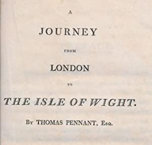 A Journey from London to the Isle of Wight. Two Volume set: Pennant, Thomas