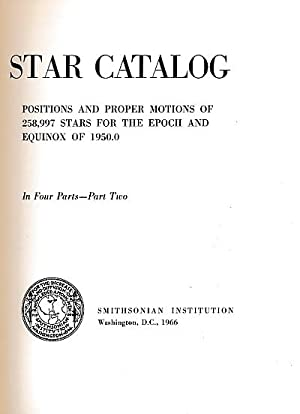 Star Catalog : Smithsonian Astrophysical Observatory. Volume 2 - stars 073-709 - 128-547: ...