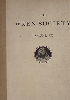 The Twentieth Volume of the Wren Society [1943]: Wren Society