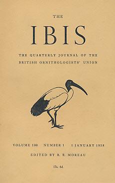 The Ibis. A Quarterly Journal of Ornithology. Volume 100. Nos 1,2,3 and 4. 1958: Moreau, R E [ed.]