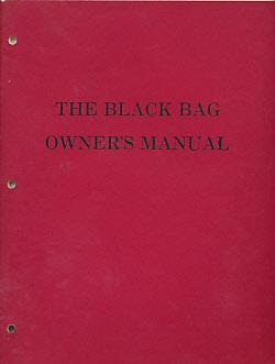 The Black Bag Owner's Manual. Part One. Spookcentre: Anon