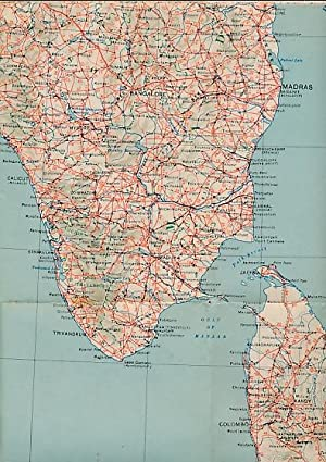 "Road Map of India. 1945. 1"":50 miles: Lewis C G"