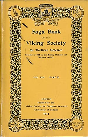 Saga Book of the Viking Society for Northern Research. Volume VIII Part II. 1914: Mawer, Allen [ed....