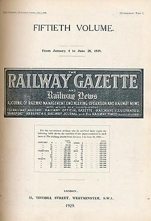 The Railway Gazette and Railway News. Volume 50, Jan - June 1929: Railway Gazette