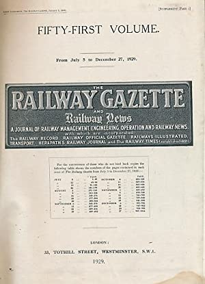 The Railway Gazette and Railway News. Volume 51, Jul - Dec 1929: Railway Gazette