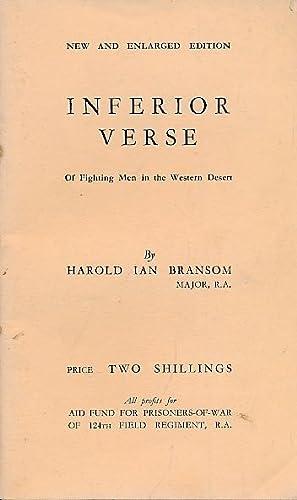 Inferior Verse of Fighting Men in the Western Desert. Author's inscription: Bransom, Major ...