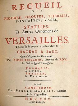 Recueil des Figures, Groupes, Thermes, Fontaines, Vases,: Thomassin, Simon [illus.]