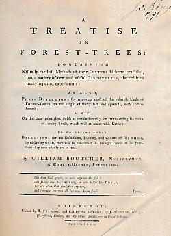 A Treatise on Forest-Trees. Signed copy. [Bound: Boutcher, William; de
