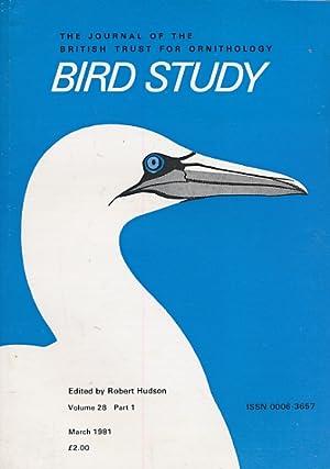 Bird Study (volume 28): Robert Hudson (editor)