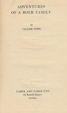 Adventures of a Boer Family: Pohl, Victor