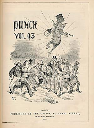 Punch, Or the London Charivari. July - Dec. 1887. Vol 93. Red cover: Mr Punch