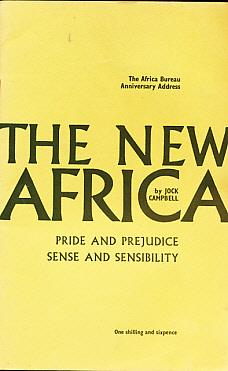 The New Africa. Pride and Prejudice. Sense and Sensibility: Campbell, Jock