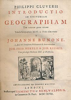 Introductio in Universam Geographiam. Iam Veterem Quam: Cluverii, Philippi [Cluver,