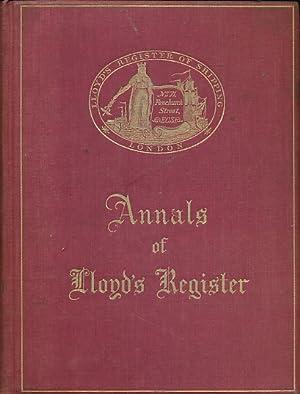 Annals of Lloyd's Register. Centenary Edition. 1934: Higgins, George [ed.]