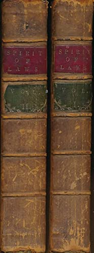 The Spirit of Laws. Two volume set: Montesquieu, Charles de Secondat, Baron de; Nugent, Mr [tr.]