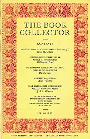 The Book Collector. Volume 6. 1957. 4 volumes complete: Hayward, John; Fleming, Ian; Carter, John; ...