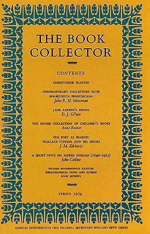 The Book Collector. Volume 23. 1974. Complete 4 volume set: Carter, John, Muir, P H; Barker, ...