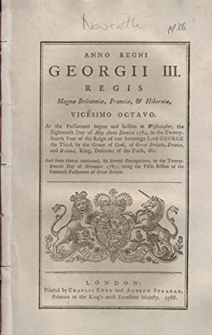 Magnae Britanniae, Franciae & Hiberniae. Vicesimo Octavo: Parliament