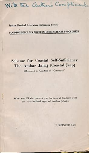 Scheme for Coastal Self-Sufficiency. The Ambar Jahaj (Coastal Jeep): Shanker Rao, U