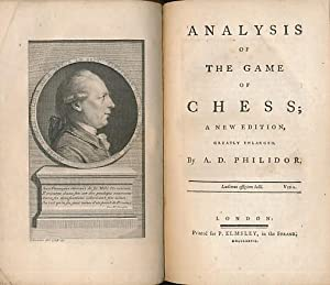 Analysis of the Game of Chess; A: Philidor, François-André Danican