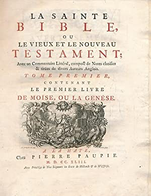 La Sainte Bible, ou le Vieux et: Paupie