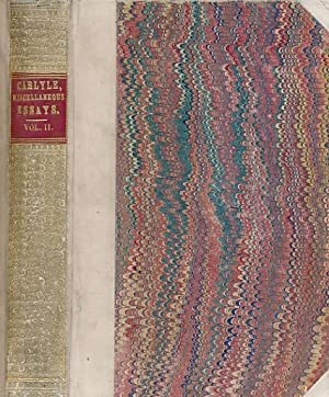 Critical and Miscellaneous Essays. Volume II: Carlyle, Thomas