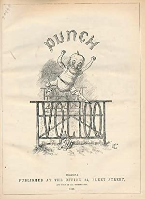 Punch, Or the London Charivari. 1891. Volumes. 100 & 101. Brown cloth cover: Mr Punch
