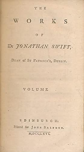 Letters and Poems. The Works of Dr: Swift, Jonathan