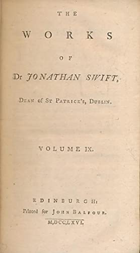 Essays and Letters. The Works of Dr: Swift, Jonathan