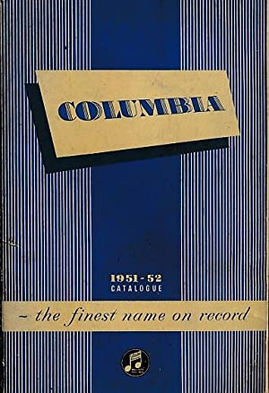 Catalogue of Columbia Records, 1951-52: Columbia