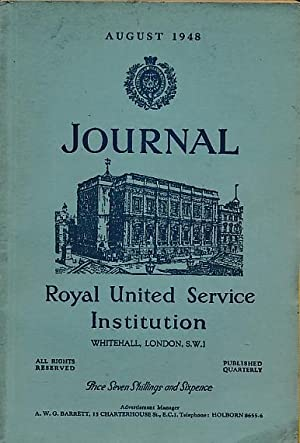 Journal of the Royal United Service Institution. August 1948: Royal United Service Institution