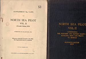 North Sea Pilot. Volume II with supplement. Admiralty Pilot Series No 53. [1959]: Admiralty