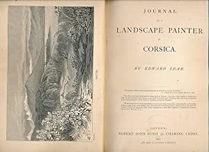 Journal of a Landscape Painter in Corsica: Lear, Edward