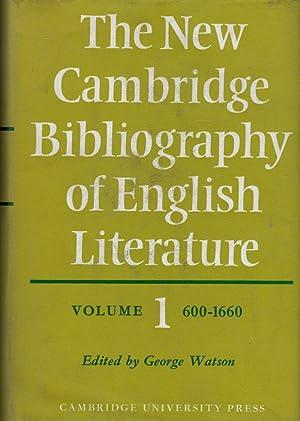 The New Cambridge Bibliography of English Literature 5 Volume Set: Watson, George [ed]