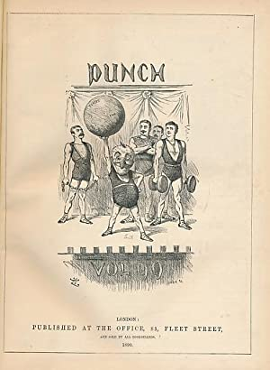 Punch, Or the London Charivari. July - December 1890. Volume 99. Brown half-leather cover: Mr Punch