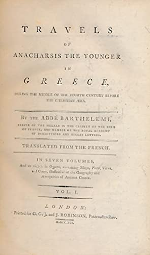 Travels of Anacharsis the Younger in Greece During the Middle of the Fourth Century Before the ...