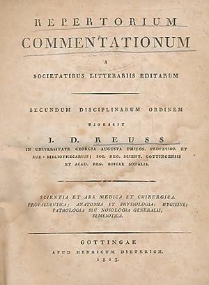 Repertorium Commentationum. A Societatibus Litterariis Editarum. Secundem: Reuss, J D