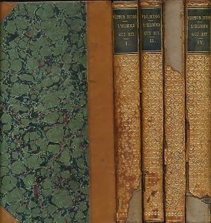 L'Homme Qui Rit. 4 volume set: Hugo, Victor