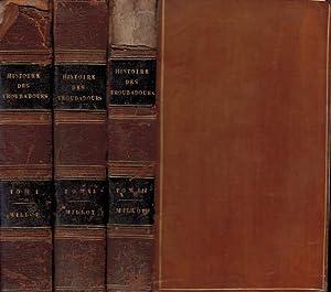Histoire littéraire des Troubadours. 3 volume set: Millot ( L'Abbé Millot)