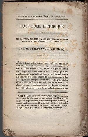 Coup d'Oeil Historique sur les Pauvres, les Prisons, les Institutions de Bienaisance et les H&...