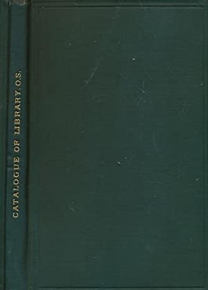 Catalogue of the Library of the Opthalmological Society of the United Kingdom: RCS